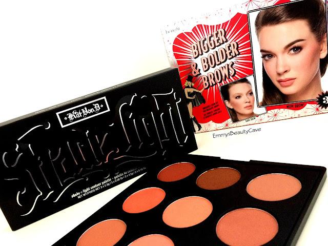 Morphe 9N Palette, Kat Von D Contour Palette, Benefit Brow Products