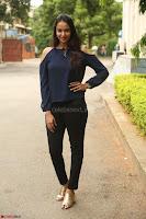 Poojita Super Cute Smile in Blue Top black Trousers at Darsakudu press meet ~ Celebrities Galleries 017.JPG
