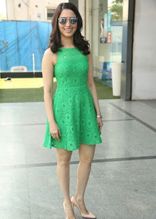 Tamanna Bhatia looks so cute ina  very short green dress at Oopiri song launch at Radio City