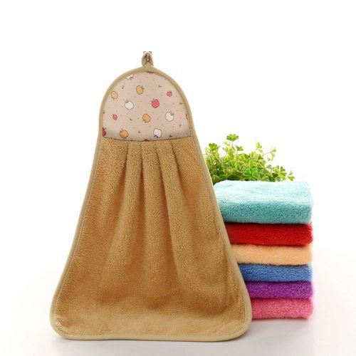 Hand Towel Soft Plush Hanging Wipe Bathing Towel