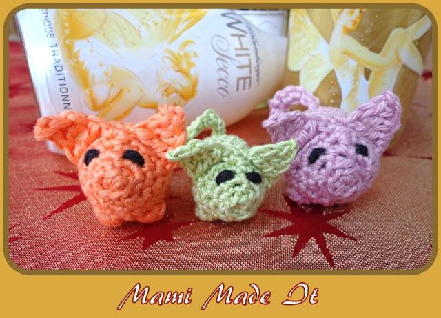Crochet Lucky Pigs - Gehäkelte Glücksschweinchen