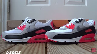 brand new 70ff5 ba1a5 Nike Air Max 90 Infrared 2010 VS 2015 Sneaker Review + Comparison