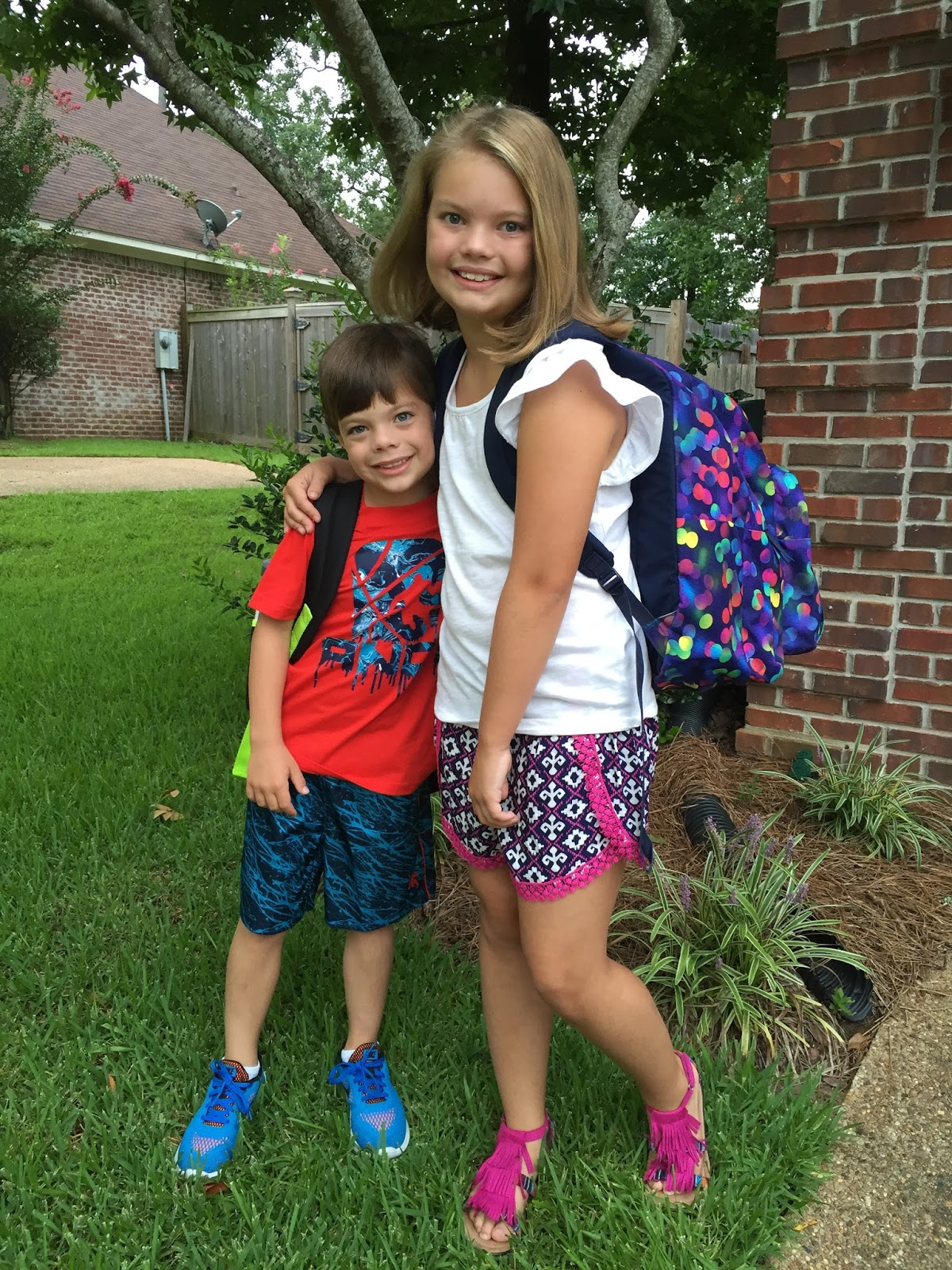 The Calvert Family 1st Day Of 4th Grade And Kindergarten