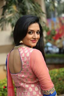 Actress Vimala Raman Stills in Beautiful Pink Salwar Kameez at (ONV) Om Namo Venkatesaya Press Meet  0190.JPG