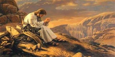 imagem de Jesus Cristo rezando.