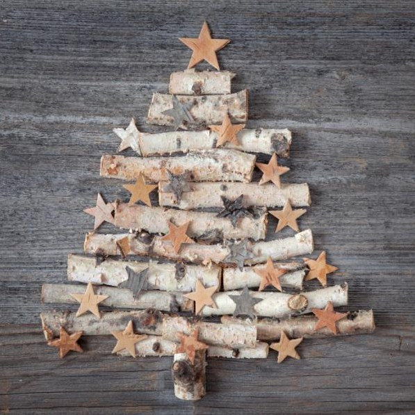 Christmas Tree With Recycled Materials