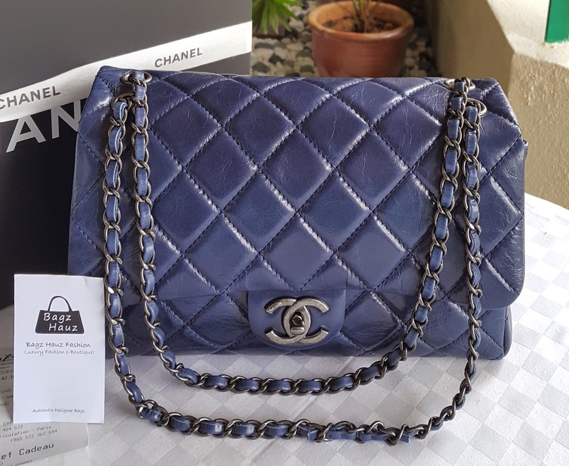 Chanel A90616 Coco Soft Flap Bag Size Medium Color Blue For Naemah 1st Time Customer