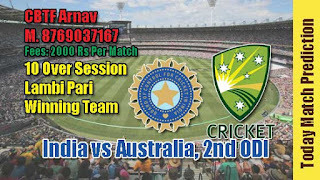 2nd ODI IND vs AUS Today Match Prediction