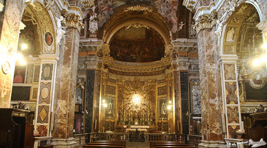 Igreja Santa Maria dela Vittoria, em Roma.