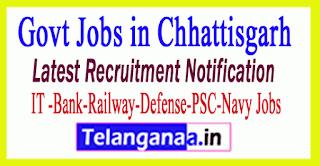 Latest Chhattisgarh Government Job Notifications