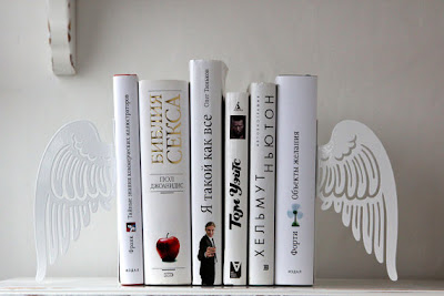 angel wing bookends