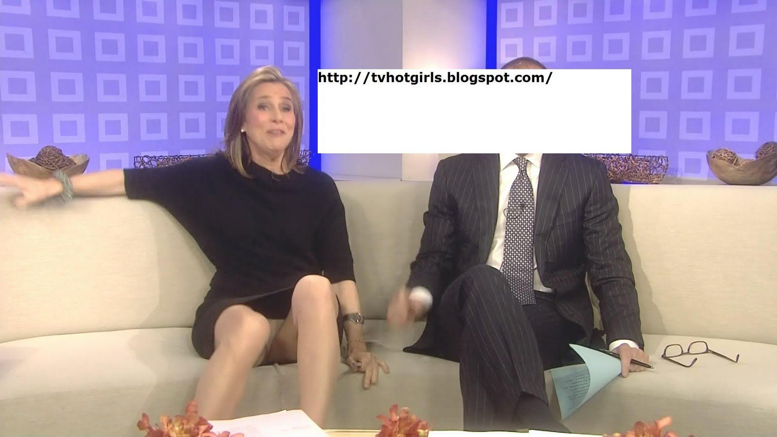 News anchor upskirt