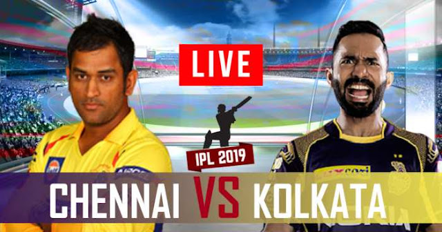 VIVO IPL 2019 Match 29 KKR vs CSK Live Score and Full Scorecard