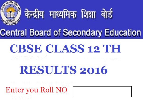 CBSE 12th Class Result 2016