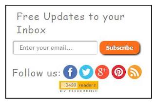 Membuat Widget Subscribe / Berlangganan & Social Media di Blog