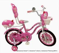 Sepeda Anak Nakita NL1602 Butterfly Sandaran 16 Inci