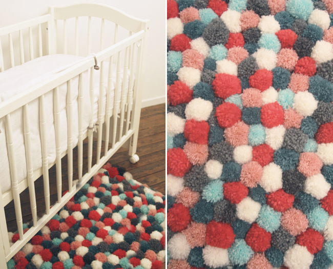 Diy Tapis Pompons Modeuse Timbree Blog Maman Mode Et Bons Plans