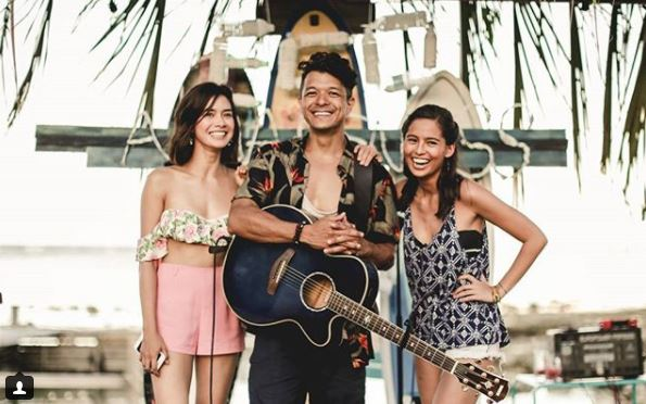 Jericho Rosales as Jigs, Erich Gonzales as Laura and Jasmine Curtis-Smith as Abi in 'Siargao'