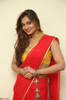 Actress Ashwini in Golden choli Red saree Spicy Pics ~  067.JPG