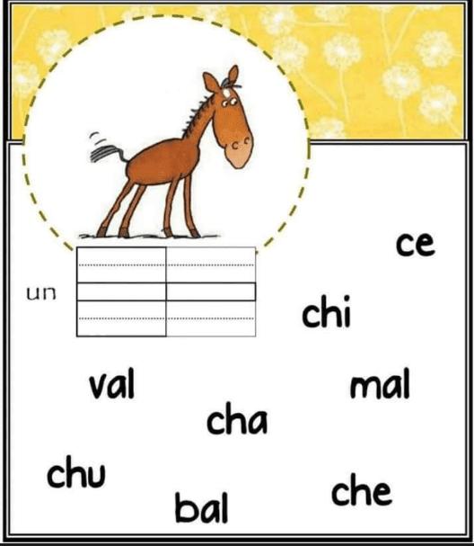 Former des mots à partir des syllabes pour 2ème et 3ème AEP