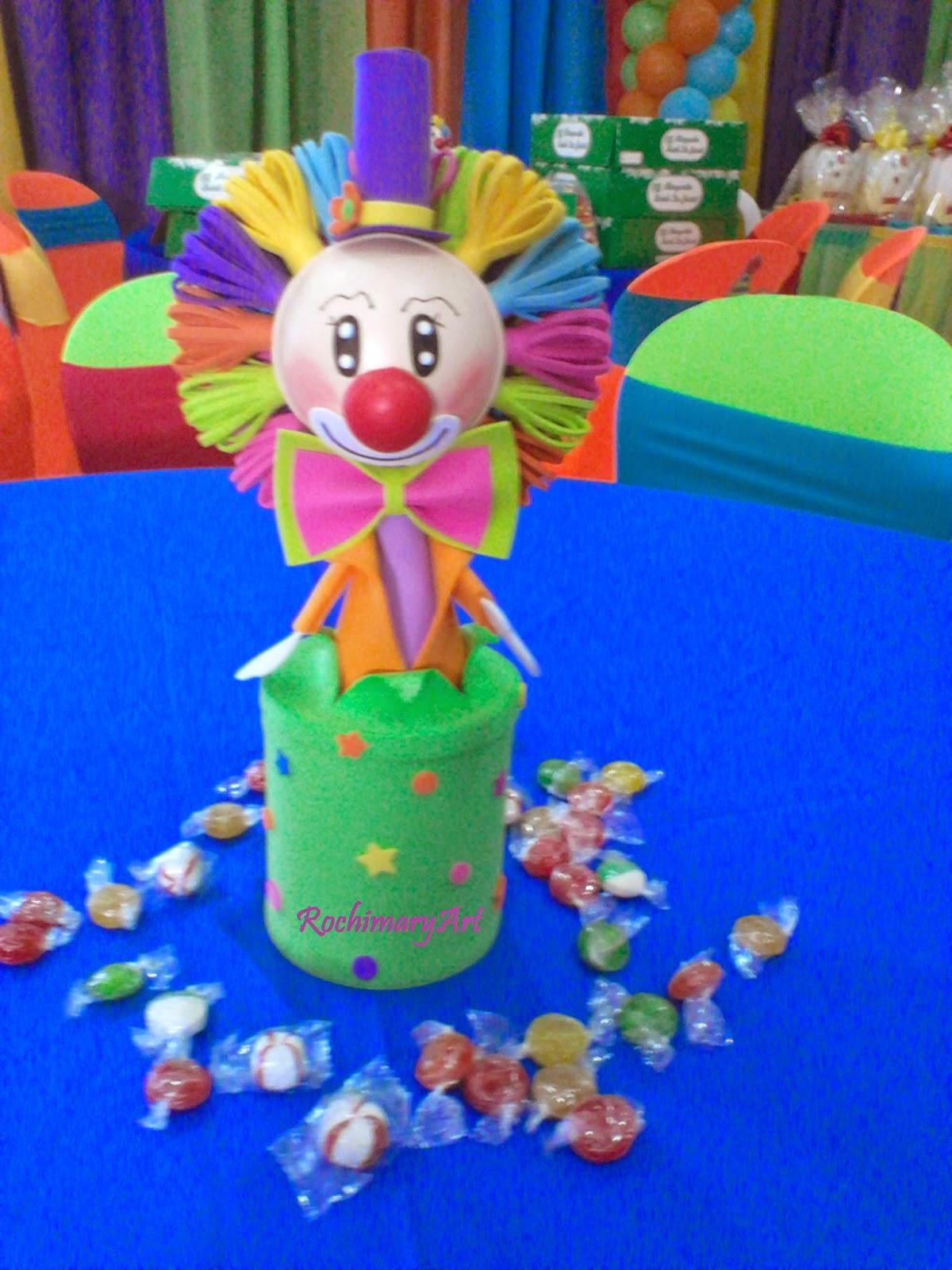 RochiMary Arte en Goma Eva: Fiesta payasos