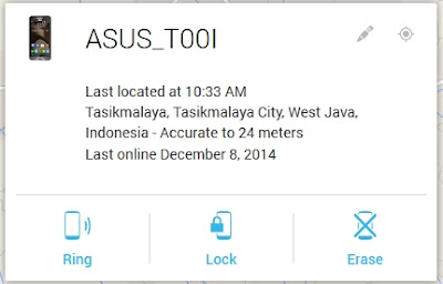 Fungsi utama google android device manager di smartphone