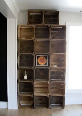 Cabin Fervor Apple Crate Shelves
