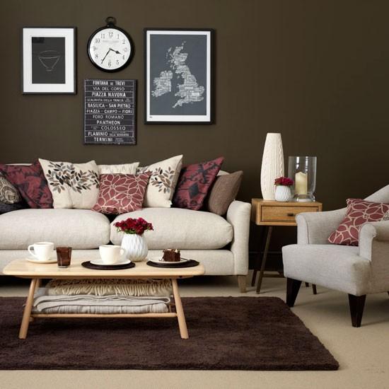 salas color chocolate colores en casa. Black Bedroom Furniture Sets. Home Design Ideas
