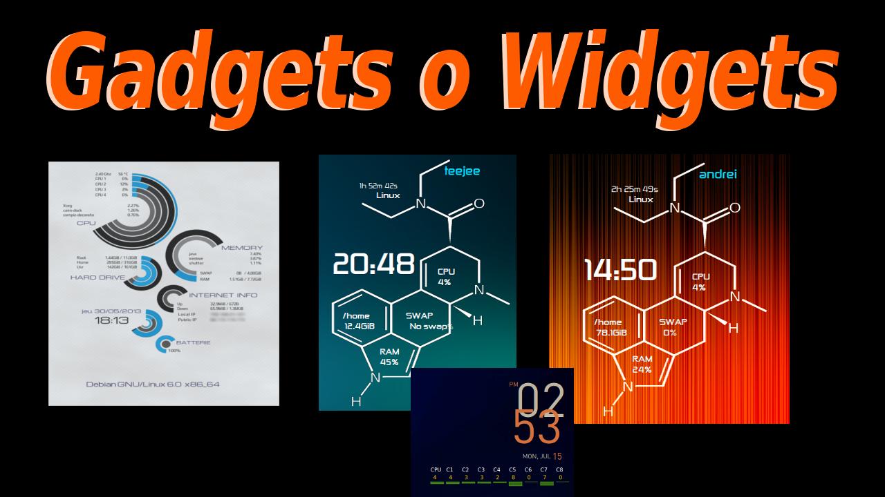 Poner gadgets widgets en el escritorio de linux mint ubuntu debian elementary etc - El tiempo en tu escritorio ...