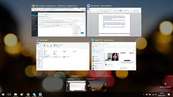 Para qué sirven y cómo usar escritorios virtuales de Windows 10