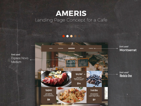 Download Landing Page for Cafe Free