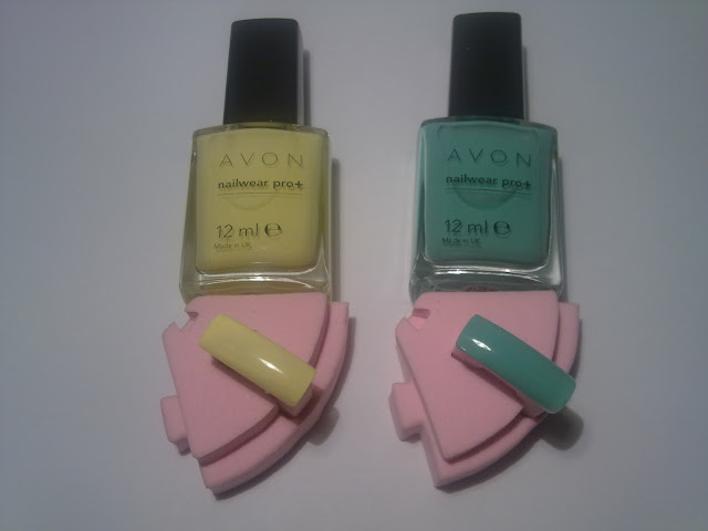 swatches colori avon lemon sugar e sea breeze nailwear pro +