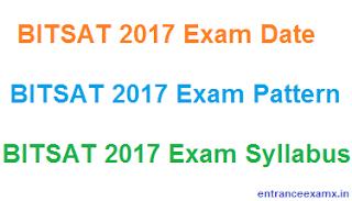 BITSAT 2017 Syllabus PDF