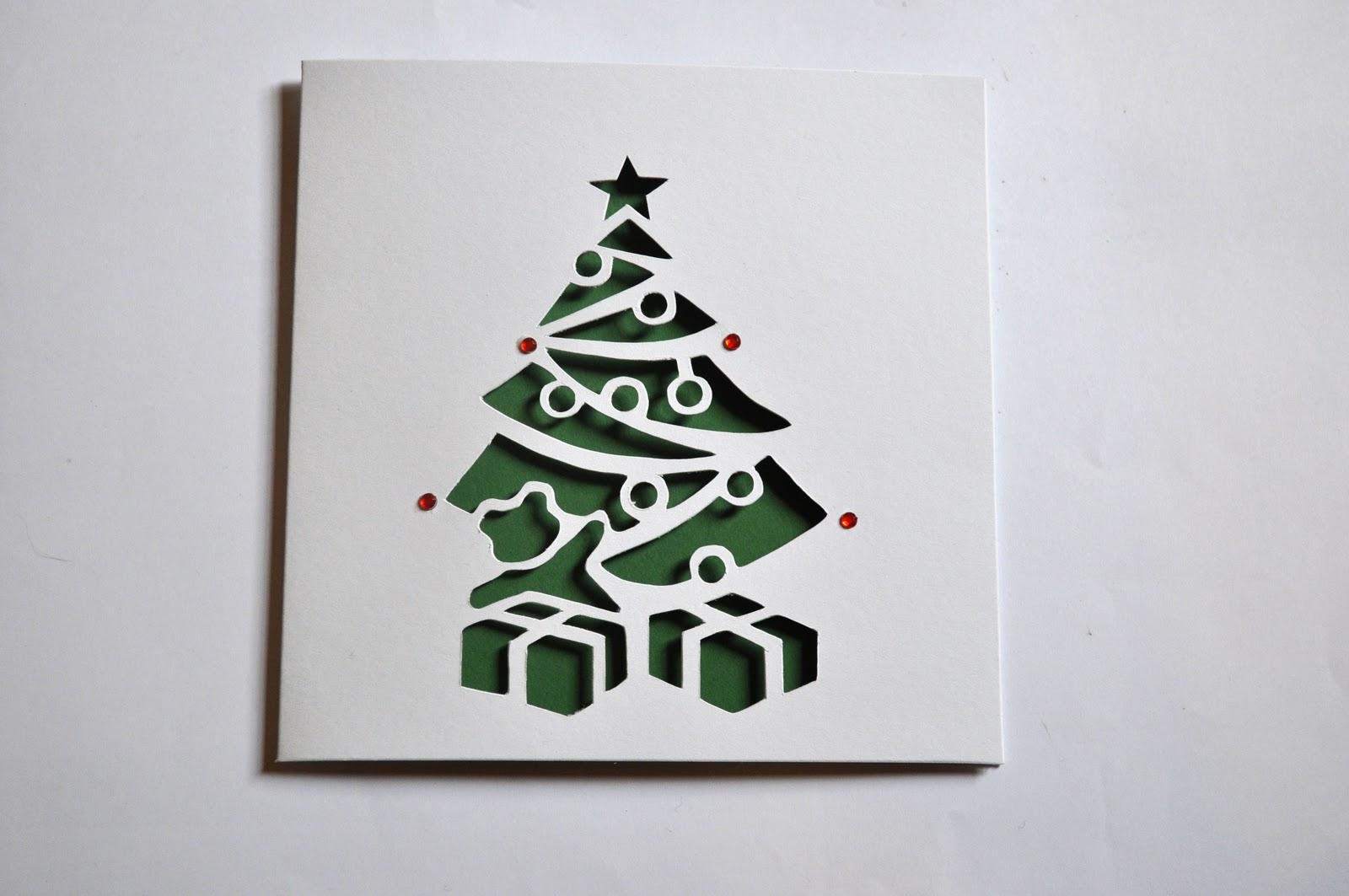 Sweet Pea Design: Christmas Tree Laser Cut Card