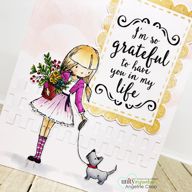 ScrappyScrappy: Unity Stamp Lisa Glanz - So Grateful #scrappyscrappy #unitystampco #lisaglanz #youtube #quicktipvideo #cardmaking #papercraft #stamp #stamping #copicmarkers #lawnfawn #picketfence #delicataink #simonsaysstamp #cloudstencil #timholtz #distressoxide