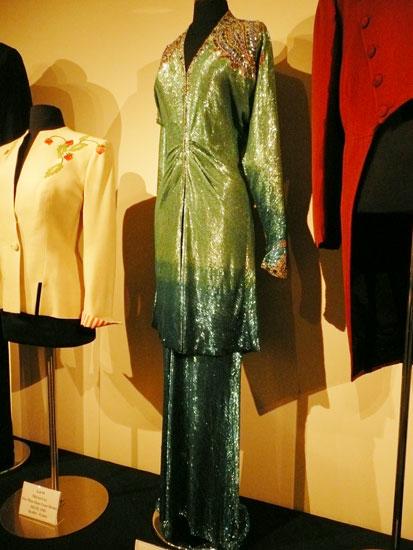 Debbie Reynolds costume exhibit Joan Crawford dress by Lady by Choice