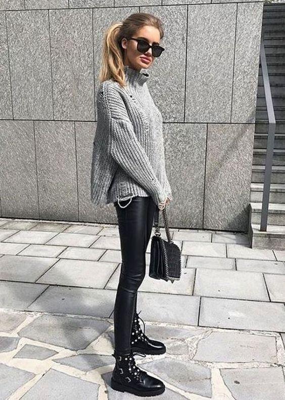 9 provas que a calça de couro salvar qualquer look