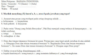 Soal-Ulangan-Ujian-BAHASA-INDONESIA-Semester-1-UAS-BAHASA-INDONESIA-kelas-6-SD