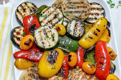 Grilled Garlic Chicken + Summer Veggies