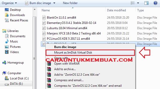 Cara Mount File ISO Di Windows 7 Tanpa DVDRW