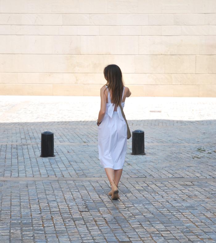 Midi white dress