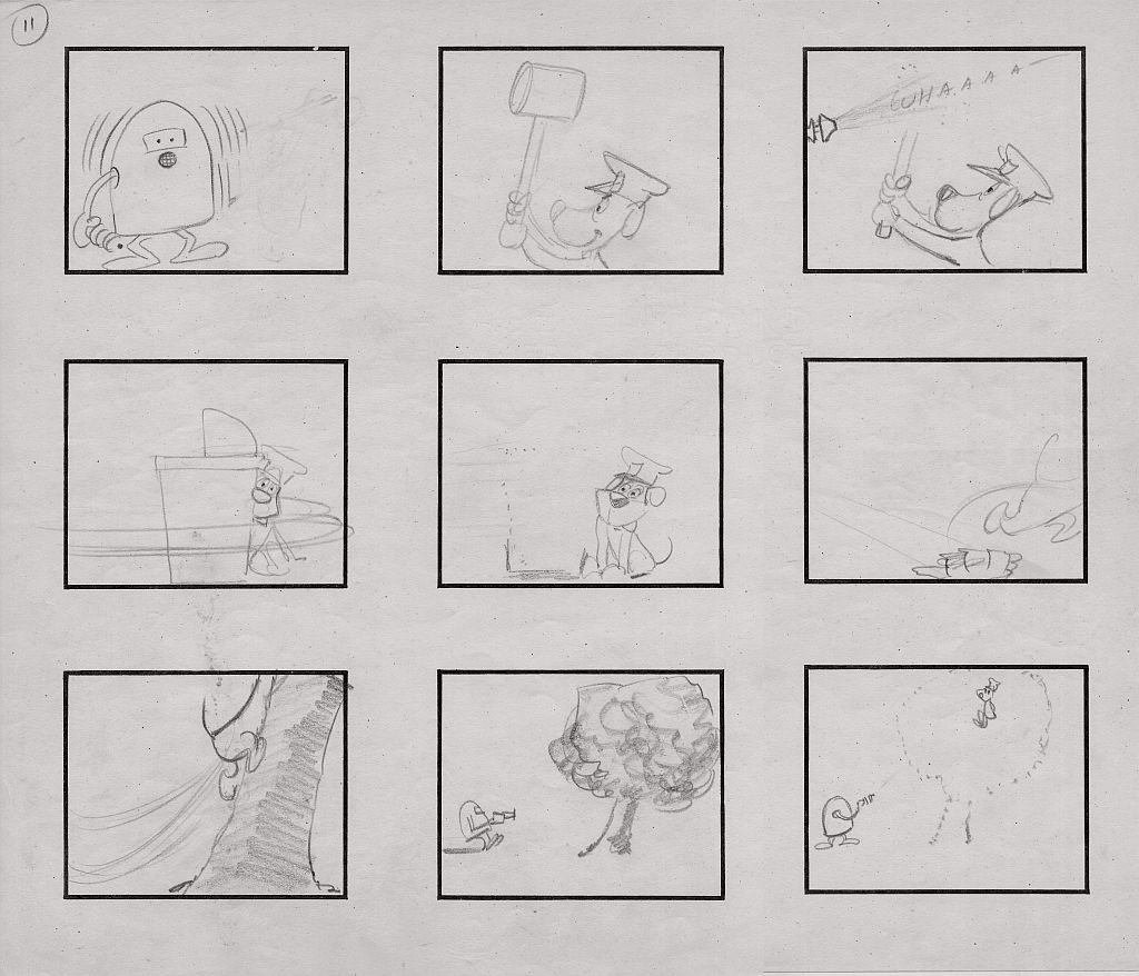 Yowp Cop And Saucer Storyboard