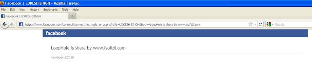 Facebook Hack to Display your Custom Message | Hacking Facebook