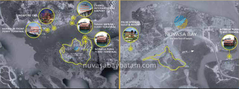 Nuvasa Bay Batam Map Location