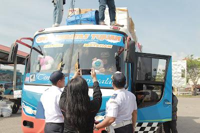 15 Armada Bus di Terminal Mandalika Jalani Ramp Chek