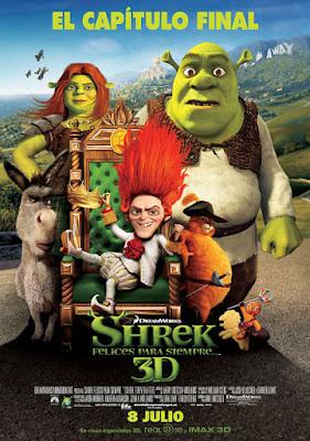Cartel oficial español: Shrek, felices para siempre (2010)