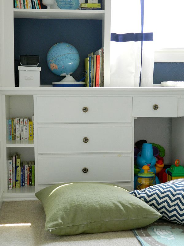 Interior design is more than just decorating. It is intentionally creating a space that not only functions well, but also functions beautifully...white, blue, and green vintage modern children's room nursery with primary colors