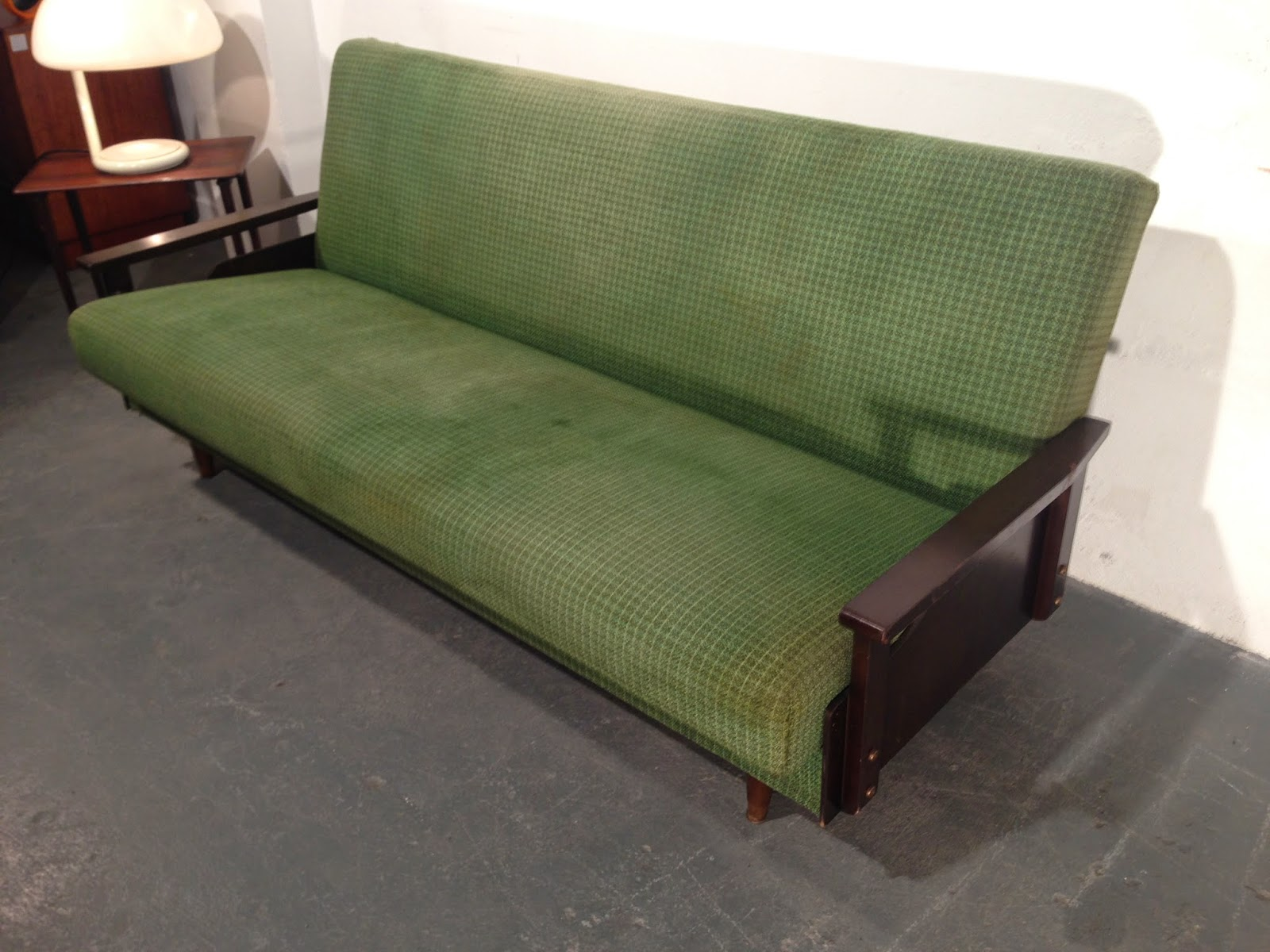 Vintage Sofa Bed Made By Hughie Smith Of Navan Furniture   Vintage Furniture  Ireland   Original