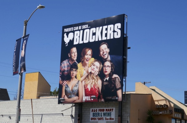 Blockers movie billboard