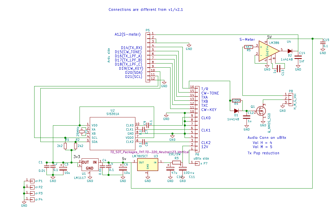 Vu2spfs Ex Vu3seg Ham Radio Page Digital Panel Meter Wiring Diagram The Circuit Is Shown Below This Also Includes Pop Reduction As Well Audio S Suggested On Bitx List Sorry I Am Yet To Put